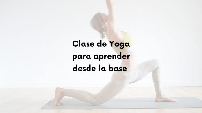 Clase de Yoga inicial con respiración abdominal